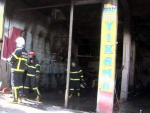 Gazıantep'te İş Yerinde Yangın