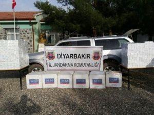 Diyarbakır'da 95 Bin TL Değerinde Kaçak Sigara Ele Geçirildi