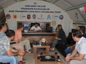 Viranşehir De Amerika Türk Koalisyonu Başkanı'ndan Çadırkente Ziyaret