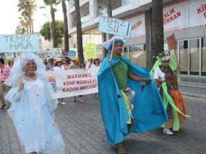 Marmaris'te Doğaya Saygı Yürüyüşü