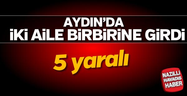 Aydın'da iki aile birbirine girdi