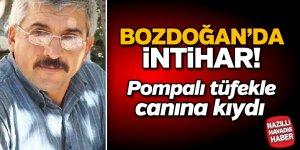 Bozdoğan'da şok intihar! Pompalı tüfekle canına kıydı