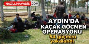 Aydın'da yasa dışı göçlerle mücadele devam ediyor