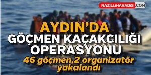 Aydın'da göçmen kaçakcılığı operasyonu