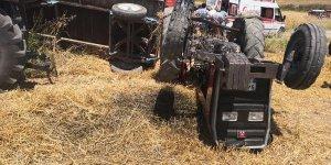 Traktörün altında kalan bebek öldü