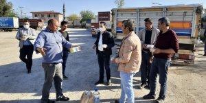 Kamyon şoförlerinin imdadına Başkan Özcan yetişti