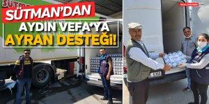 SÜTMAN'DAN AYDIN VEFA'YA 6 BİN AYRAN DESTEĞİ