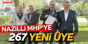 NAZİLLİ MHP'YE 267 YENİ  ÜYE