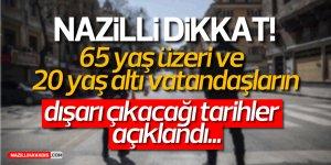NAZİLLİ DİKKAT! TARİHLER BELLİ OLDU....