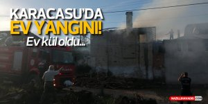 Karacasu'de ev yangını
