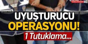 Aydın'da uyuşturucu operasyonunda 1 kişi tutuklandı
