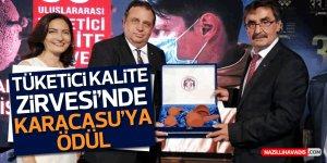 33. Uluslararası Tüketici Kalite Zirvesi'nde Karacasu'ya ödül