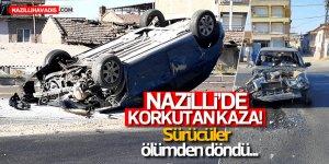 Nazilli'de iki otomobil çarpıştı:2 yaralı
