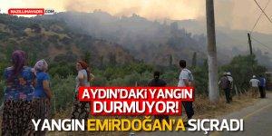 Yangın Emirdoğan'a sıçradı, vatandaşlar evlerini suladı