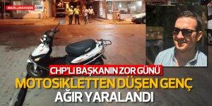 Nazilli'de motosikletten düşen genç ağır yaralandı