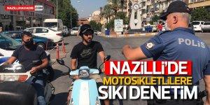 Nazilli'de motosikletli sürücülere sıkı denetim