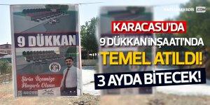 Karacasu'da 9 Dükkan İnşaatı'nda Temel Atıldı! 3 Ayda bitecek