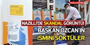 Nazilli'de Skandal Görüntü!