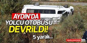 Aydın'da yolcu minibüsü devrildi: 5 yaralı