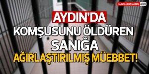 Aydın'da komşusunu öldüren sanığa ağırlaştırılmış müebbet