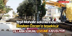Yeşil Mahalle sakinlerinden Başkan Özcan'a teşekkür