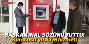 Başkan İnal sözünü tuttu! O mahalleye ATM hizmeti