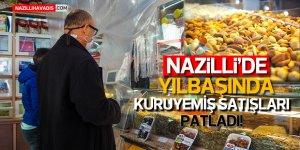 Nazilli'de yılbaşında kuruyemiş satışları patladı