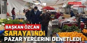 Başkan Özcan'dan koronavirüs denetimi