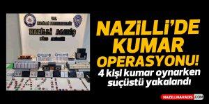 Nazilli'de kumar baskını: 4 gözaltı