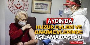 Aydın'da huzurevleri ve bakımevlerinde Kovid-19 aşı uygulaması başladı