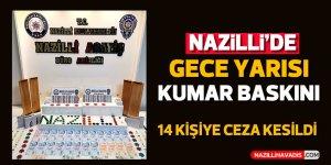 Nazilli'de gece yarısı kumar baskını: 14 şahsa ceza kesildi