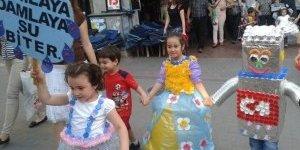 Nazilli'de Minikler Geri Dönüşümün Önemine Dikkat Çekti