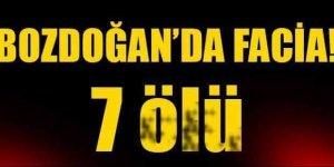 Bozdoğan'da Feci Kaza 7 ölü