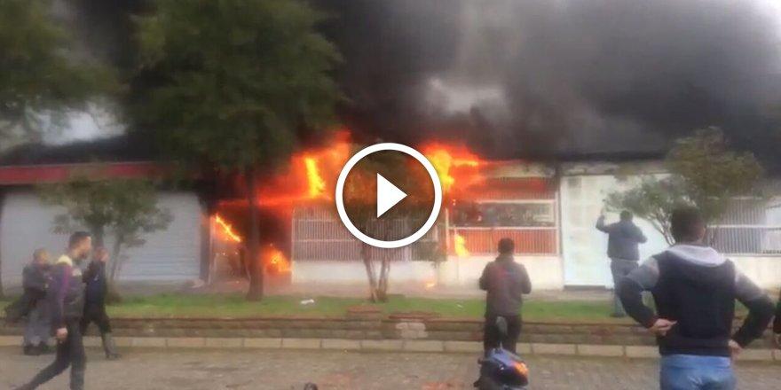 Nazilli'de marangoz atölyesinde yangın