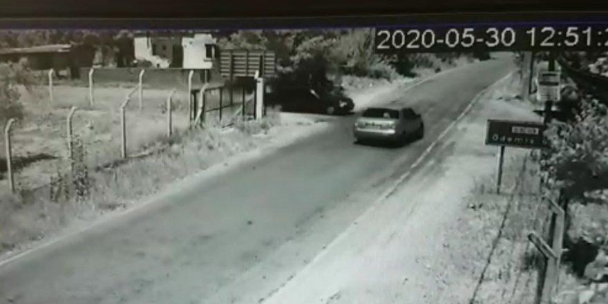 Feci kaza güvenlik kamerasına yansıdı...